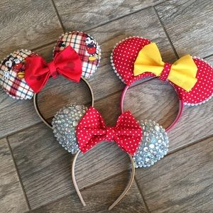 3 Handmade Mickey Mouse Disney Headband Ears